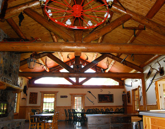 Inside the Lodge at Palmquist Farm