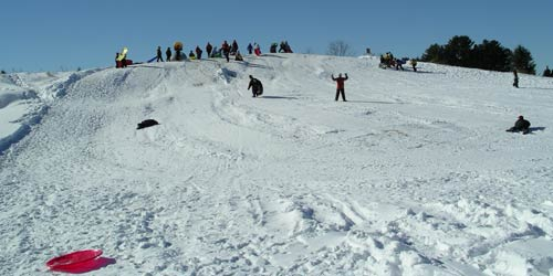 sledding hill at Palquist Farm