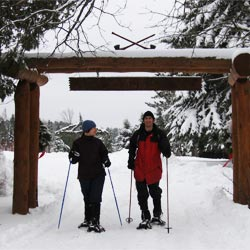 snowshoeing at Palmquist Farm